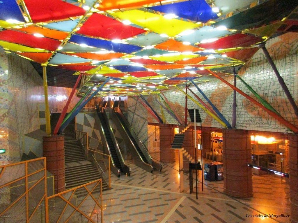 Estación Olaias del Metro de Lisboa - Los viajes de Margalliver